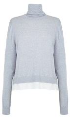 Tibi Savanna Woven Back Turtleneck