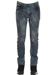 11 By Boris Bidjan Saberi Destroyed Washed Stretch Denim Jeans