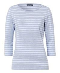 Olsen Cotton Stripe T Shirt Blue
