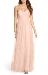 Wtoo Women's Strapless Tulle Gown Nude