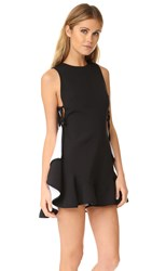Kendall Kylie Flutter Lace Up Romper Black
