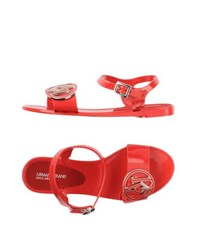 Armani Jeans Footwear Sandals Women Red