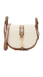 Michael Michael Kors Shearling Jamie Saddle Bag Dark Caramel