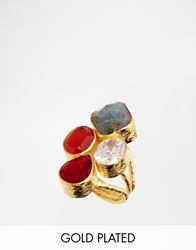Ottoman Hands Spice Box Semi Precious Multicoloured Four Stone Ring Multicolouredstones