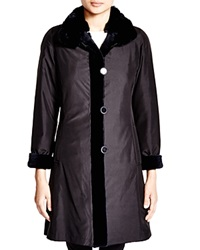 Maximilian Sheared Mink Reversible Coat With Chinchilla Collar Bloomingdale's Exclusive Navy Navy