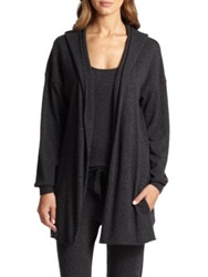 Hanro Crosby Wool Blend Hooded Cardigan Charcoal Grey