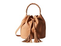 Vince Camuto Zinya Drawstring Chestnut Brown Drawstring Handbags