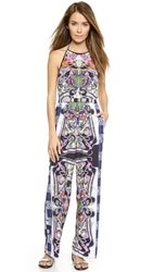 Clover Canyon Swirling Scarf Halter Jumpsuit Multi