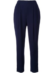 Enfold High Waisted Trousers Blue
