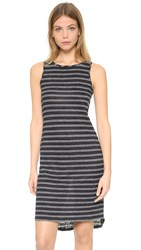 Vince Double Stripe Tank Dress Coastal Off White