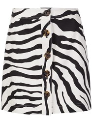 Adam By Adam Lippes Zebra Print Skirt White