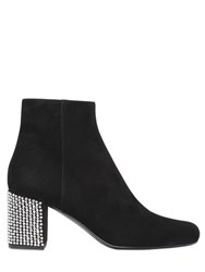 Saint Laurent 70Mm Candy Swarovski And Stud Suede Boots