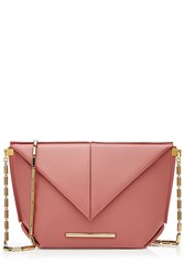 Roland Mouret Leather Shoulder Bag Pink