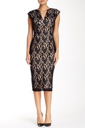 Single Dress Lace Fitted Dress Black