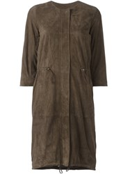 Eleventy Single Breasted Coat Brown