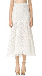 Monique Lhuillier Delia Lace Skirt Ivory