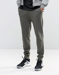 Asos Skinny Joggers In Khaki Forest Night Green