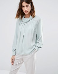 Warehouse Batwing Top Mint Green