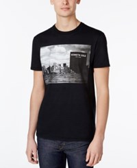 Kenneth Cole Reaction Men's Graphic Print T Shirt Black