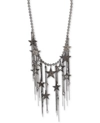 Inc International Concepts Hematite Tone Pave Star Fringe Statement Necklace Only At Macy's Gray