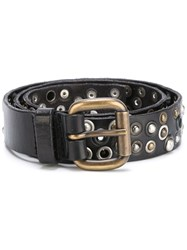 Orciani Studded Belt Brown