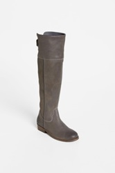 Bp Darbie Leather Riding Boot Gray