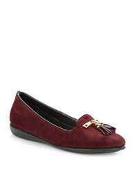 The Flexx Misslipper Suede Loafers Red