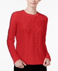Maison Jules Textured Sweater Only At Macy's Loving Red