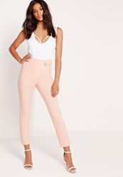 Missguided Eyelet Wrap Trousers Pink Pink