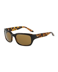 Barton Perreira Dutchie Square Plastic Sunglasses Amber Brown