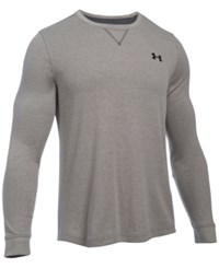 Under Armour Men's Waffle Textured Long Underwear Shirt Carbon Heather