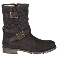 Barbour Balham Quilted Calf Boots Black