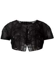 Iris Van Herpen Fiber Glass Mesh Jacket Black
