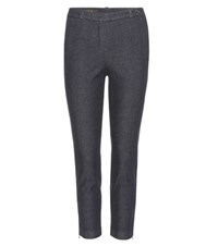 Loro Piana Davis Cropped Denim Trousers Blue