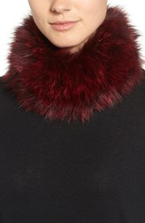 Dena Women's Genuine Fox Fur Cowl Collar Red