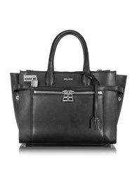 Zadig And Voltaire Candide Medium Black Zip Tote Bag
