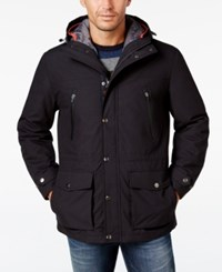 London Fog Men's Big And Tall 3 In 1 Hooded Coat Navy Orange