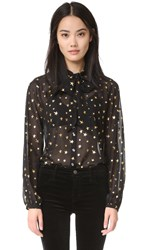 Scotch And Soda Maison Scotch Star Blouse Star Print