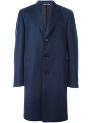 Canali Waterproof Coat Blue
