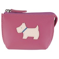Radley Heritage Dog Small Leather Coin Purse Pink