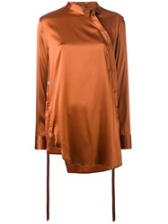 Ann Demeulemeester Side Placket Blouse Yellow Orange