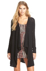 Volcom 'For Love' Wrap Cardigan Black