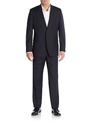 Saks Fifth Avenue Slim Fit Solid Wool Suit Black