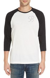 Nike Men's Sb Logo Dri Fit Raglan T Shirt Ivory Black Black