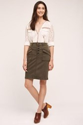Anthropologie Pilcro Chino Pencil Skirt Holly