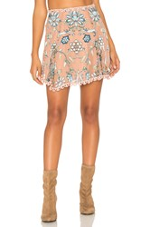 For Love And Lemons Saffron Skirt Beige