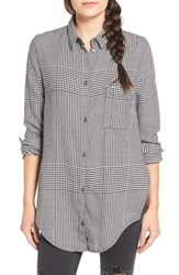 Cheap Monday Women's 'Try' Houndstooth Flannel Shirt