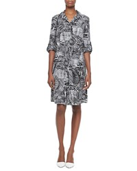 Indikka Printed Drawstring Shirt Dress Women's
