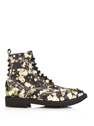 Givenchy Floral Print Leather Boots