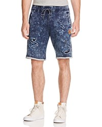 Prps Goods And Co. Distressed Drawstring Fleece Shorts Indigo